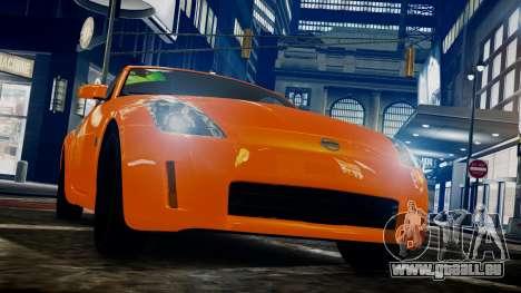 Nissan 350Z pour GTA 4 Vue arrière de la gauche