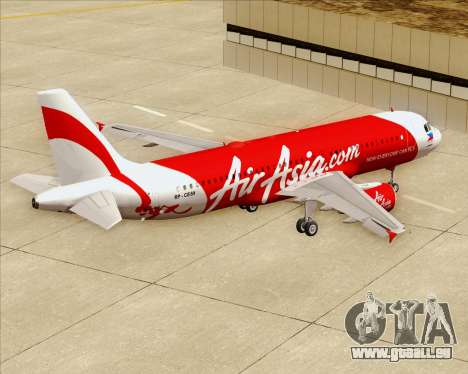 Airbus A320-200 Air Asia Philippines pour GTA San Andreas vue de dessous