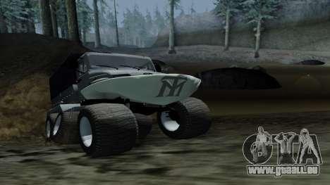 ZIL Kerzhak 6x6 pour GTA San Andreas sur la vue arrière gauche