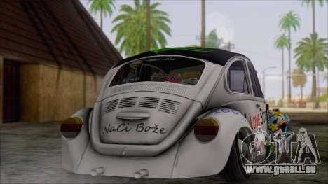 Volkswagen Beetle Bosnia Stance Nation pour GTA San Andreas laissé vue