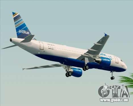 Airbus A320-200 JetBlue Airways pour GTA San Andreas vue arrière
