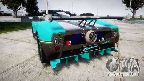 Pagani Zonda Uno pour GTA 4 Vue arrière de la gauche