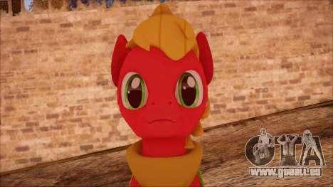 Big Macintosh from My Little Pony pour GTA San Andreas troisième écran