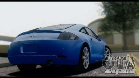 Mitsubishi Eclipse 2006 für GTA San Andreas Rückansicht