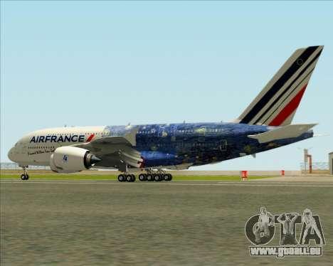 Airbus A380-800 Air France für GTA San Andreas Räder