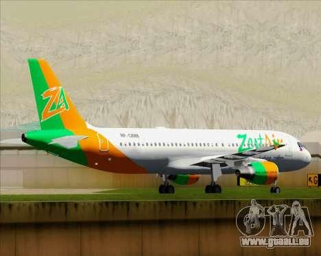 Airbus A320-200 Zest Air für GTA San Andreas obere Ansicht