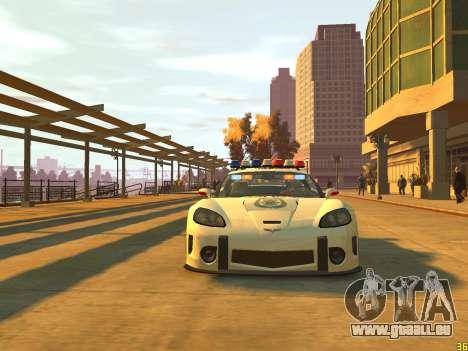 Chevrolet Corvette Z06 Police pour GTA 4 Vue arrière de la gauche