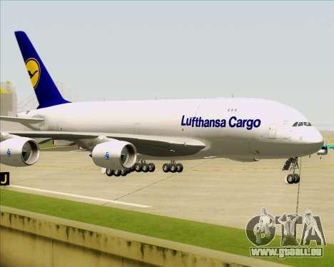 Airbus A380-800F Lufthansa Cargo für GTA San Andreas obere Ansicht