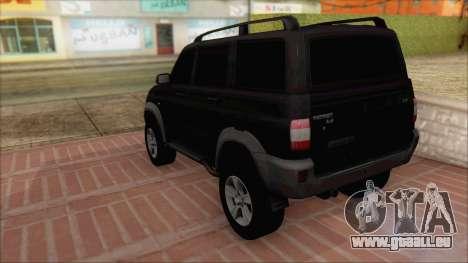 UAZ Patriot pour GTA San Andreas laissé vue