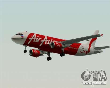 Airbus A320-200 Air Asia Philippines für GTA San Andreas zurück linke Ansicht