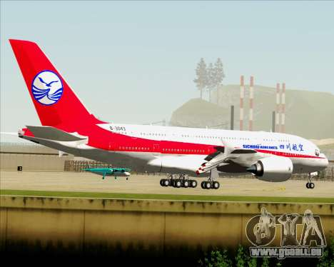 Airbus A380-800 Sichuan Airlines für GTA San Andreas rechten Ansicht