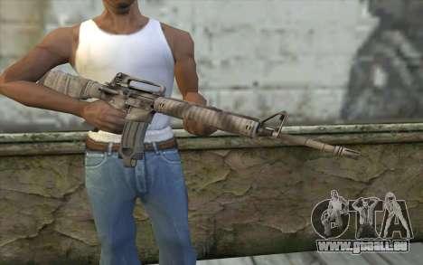 M16A4 from Battlefield 3 pour GTA San Andreas troisième écran
