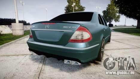 Mercedes-Benz W211 E55 AMG Vossen VVS CV5 pour GTA 4 Vue arrière de la gauche