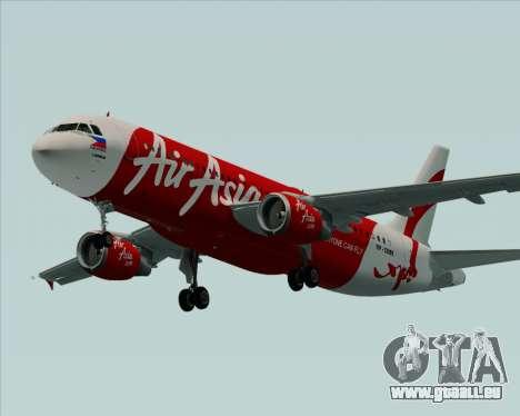 Airbus A320-200 Air Asia Philippines für GTA San Andreas obere Ansicht