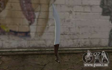 Couteau en acier pour GTA San Andreas deuxième écran