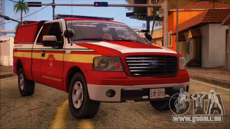Ford F150 Fire Department Utility 2005 pour GTA San Andreas