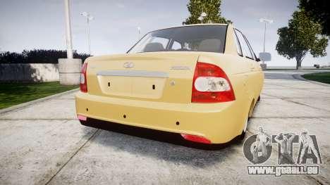 ВАЗ-2170 Installé Prieure 2014 pour GTA 4 Vue arrière de la gauche