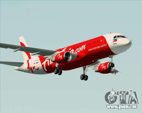 Airbus A320-200 Air Asia Philippines pour GTA San Andreas roue