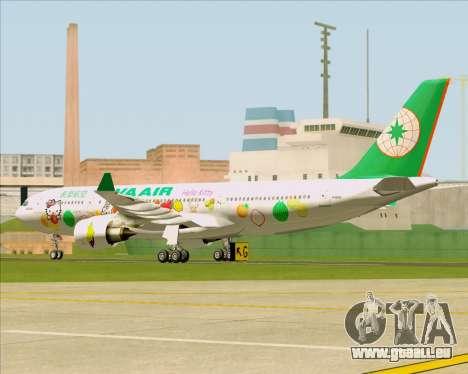 Airbus A330-200 EVA Air (Hello Kitty) für GTA San Andreas Rückansicht