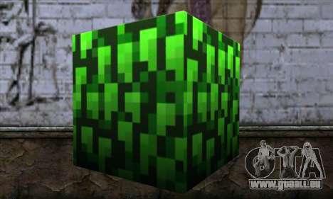 Bloc (Minecraft) v12 pour GTA San Andreas deuxième écran