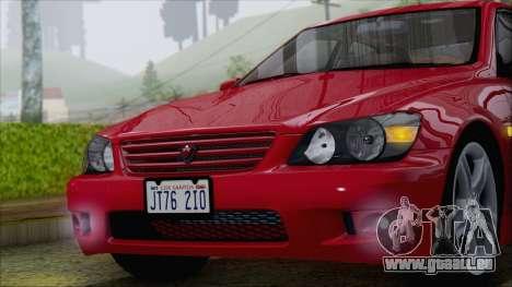 Toyota Altezza (RS200) 2004 (IVF) pour GTA San Andreas vue arrière