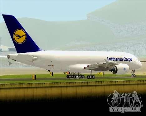 Airbus A380-800F Lufthansa Cargo für GTA San Andreas Seitenansicht