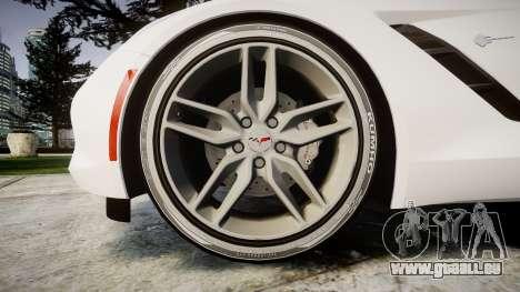 Chevrolet Corvette C7 Stingray 2014 v2.0 TireKHU für GTA 4 Rückansicht
