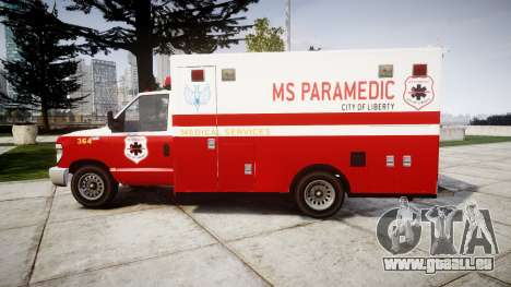 Vapid V-240 Ambulance pour GTA 4 est une gauche