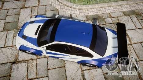 BMW M3 E46 GTR Most Wanted plate NFS Pro Street pour GTA 4 est un droit