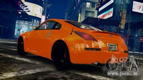 Nissan 350Z pour GTA 4 est une gauche