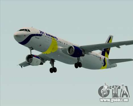 Airbus A320-200 Jet Airways für GTA San Andreas zurück linke Ansicht