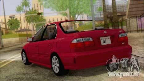 Honda Civic 2000 pour GTA San Andreas laissé vue