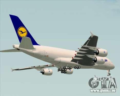 Airbus A380-800F Lufthansa Cargo für GTA San Andreas Unteransicht