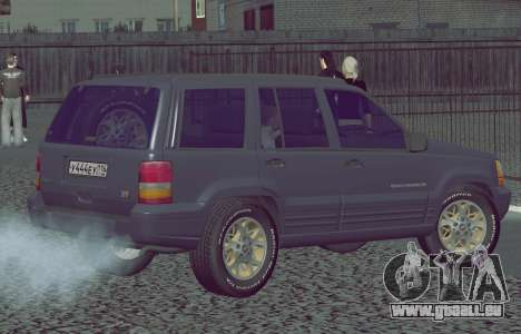 Jeep Grand Cherokee ZJ pour GTA San Andreas laissé vue