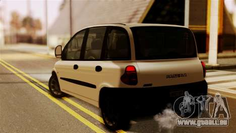 Fiat Multipla Black Bumpers für GTA San Andreas linke Ansicht