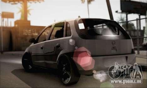 Opel Corsa 5-Doors pour GTA San Andreas laissé vue