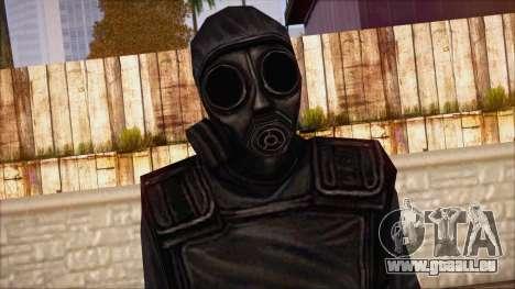 SAS from Counter Strike Condition Zero pour GTA San Andreas troisième écran