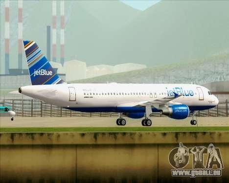 Airbus A320-200 JetBlue Airways pour GTA San Andreas roue