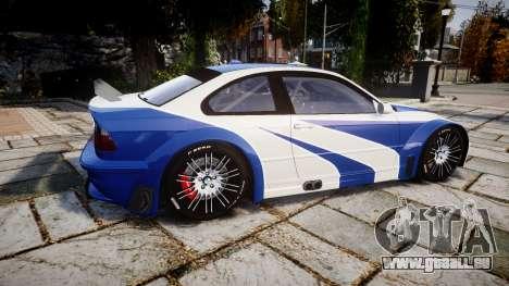 BMW M3 E46 GTR Most Wanted plate NFS Pro Street pour GTA 4 est une gauche