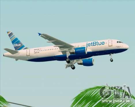 Airbus A320-200 JetBlue Airways pour GTA San Andreas vue de côté