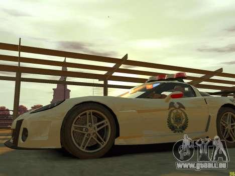 Chevrolet Corvette Z06 Police pour GTA 4 est un côté