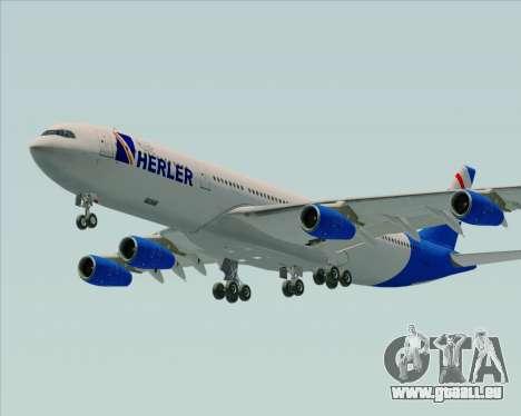 Airbus A340-300 Air Herler pour GTA San Andreas sur la vue arrière gauche