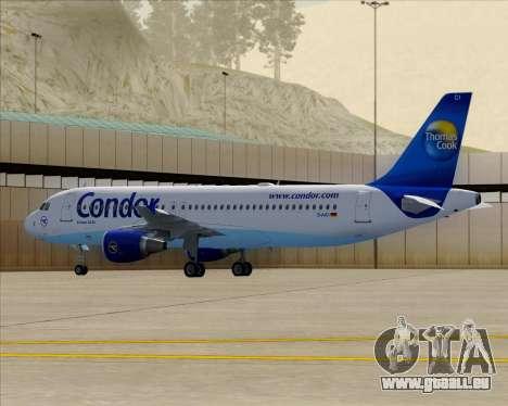 Airbus A320-200 Condor für GTA San Andreas obere Ansicht