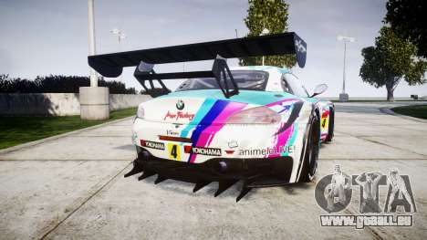 BMW Z4 GT3 2014 Goodsmile Racing pour GTA 4 Vue arrière de la gauche
