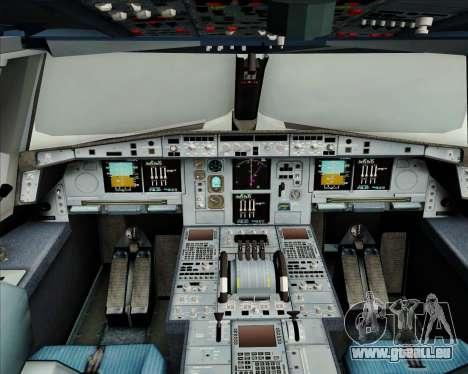 Airbus A380-800 Air France für GTA San Andreas Innen
