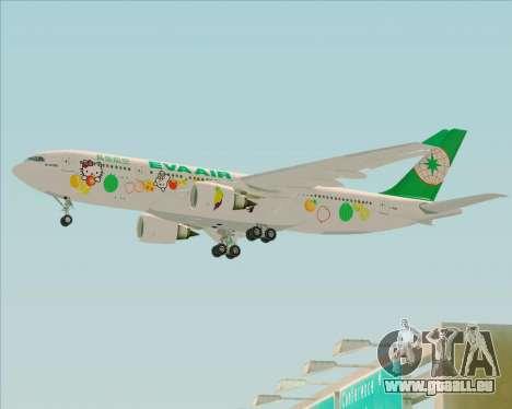 Airbus A330-200 EVA Air (Hello Kitty) für GTA San Andreas zurück linke Ansicht