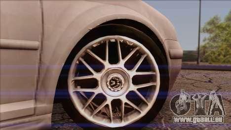 Volkswagen Golf Mk4 GTI für GTA San Andreas zurück linke Ansicht