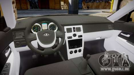 ВАЗ-2170 Installé Prieure 2014 pour GTA 4 est une vue de l'intérieur