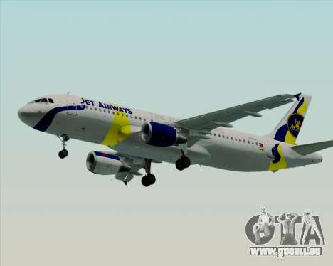 Airbus A320-200 Jet Airways pour GTA San Andreas roue