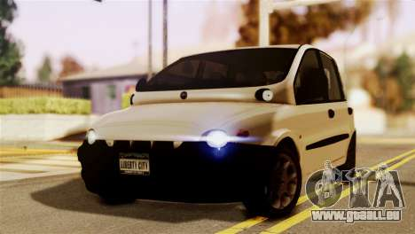 Fiat Multipla Black Bumpers für GTA San Andreas